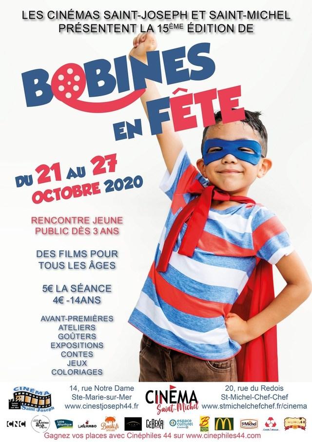 """du 21 au 27 Octobre 2020, 15eme édition du festival""""Bobines en Fête"""""""