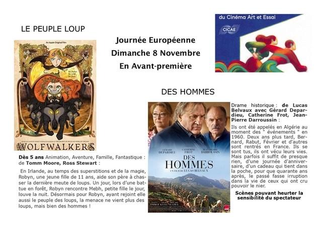Journée Européenne du cinéma ART et ESSAI 2020 dimanche 8 Novembre