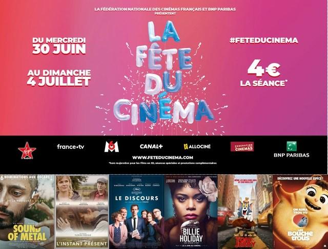 c'est la fête du cinéma du 30 Juin au 4 Juillet